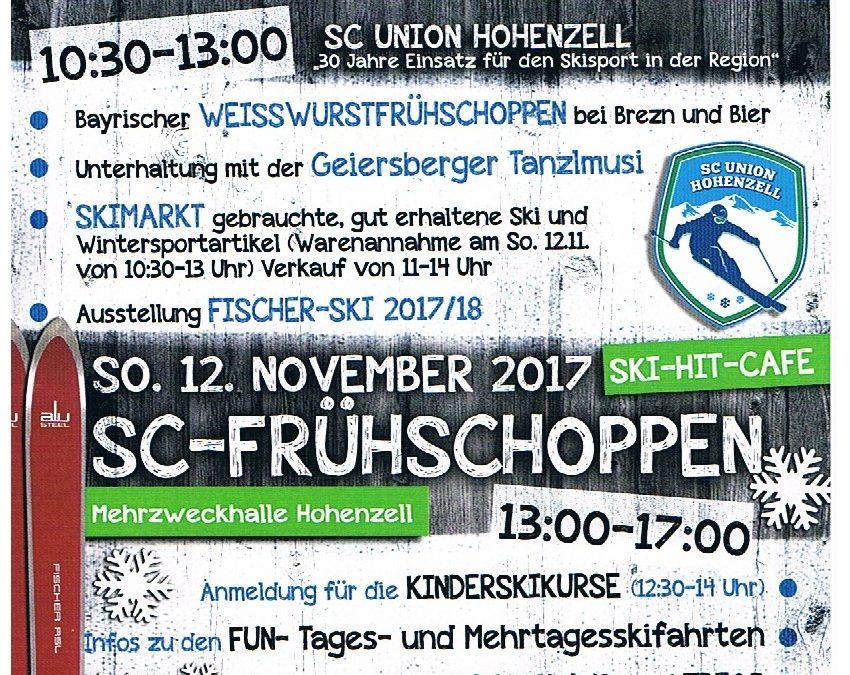 SC Frühschoppen – SKI HIT Cafe – Anmeldung Skikurse 2017