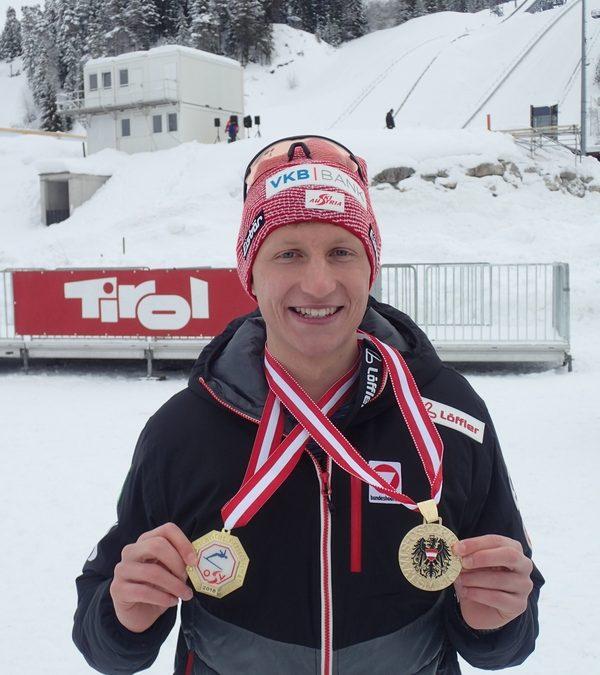 Langlauf Staatsmeistertitel 2018 für Philipp Leodolter