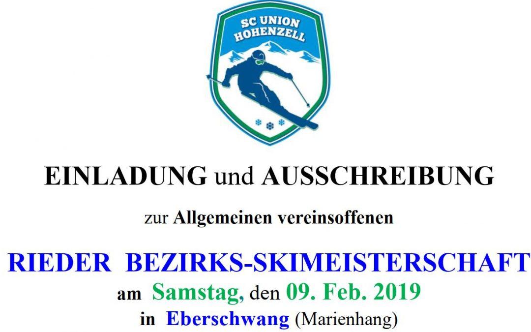 Rieder Bezirks-Skimeisterschaft 2019