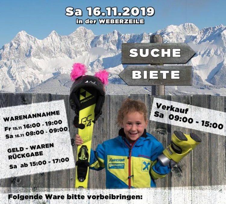 1. Skibasar in der Weberzeile 16.11.2019